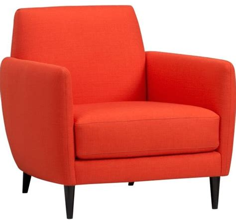 parlour atomic orange chair midcentury armchairs and