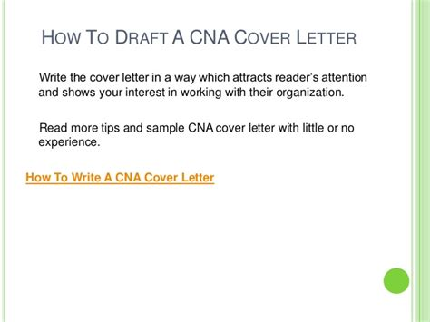 draft cover letter how to draft cna cover letter