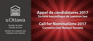 Common Law Honour Society 2017 Call For Nominations