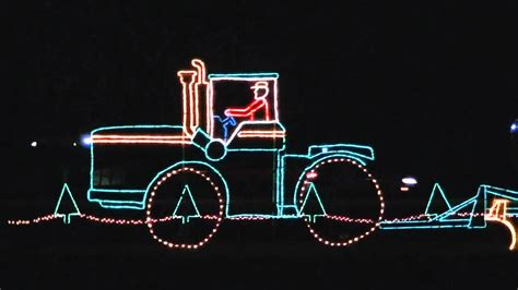reynolds farm equipment christmas light display youtube