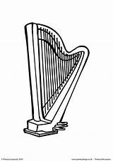 Harp Colouring Coloring Worksheet Primaryleap Pages Printable Templates sketch template