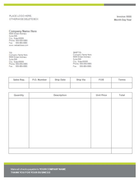 6 word invoice form paid invoice