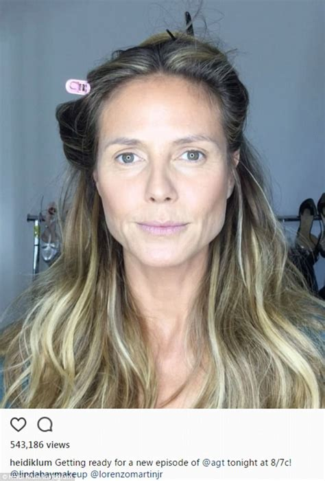 Heidi Klum Posts Sped Up Video Of Hair And Makeup Process