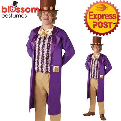 Ca349 Mens Willy Wonka Chocolate Factory Book Week Fancy