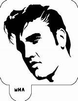 Elvis Presley Stencil Mr Stencils Silhouette Celebrity Cut Template Sideburns Face Elvira Coloring Tattoo Pumpkin Decal Vinyl Templates Mrhairart Cameo sketch template