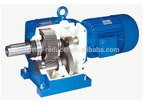 Electric Motor Gearbox by R Series Inline Coaxial Motor Rector Gearbox With Motor