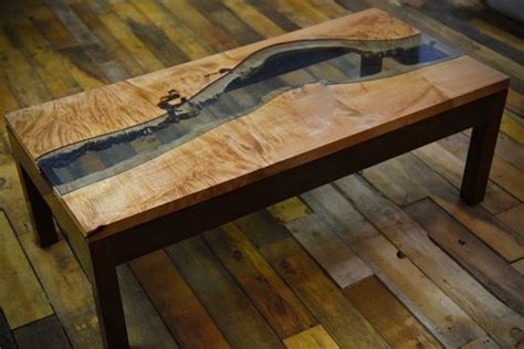 hand crafted  edge river table  dangelo woodcraft