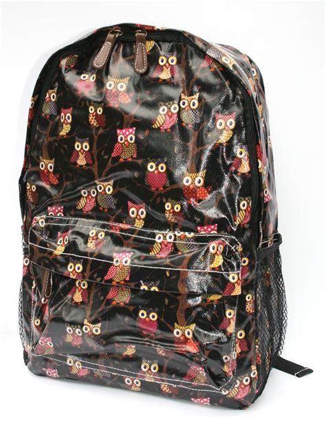 owl backpack black  suzielou textiles notonthehighstreetcom