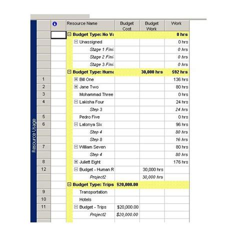 how to create a project budget see an example of a budget in microsoft project