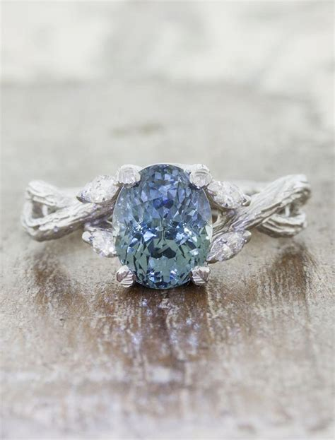 emery montana sapphire ring nature inspired ken dana