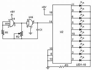 how to build led chaser circuit diagram With vu meter circuit with 10 led b2b electronic components