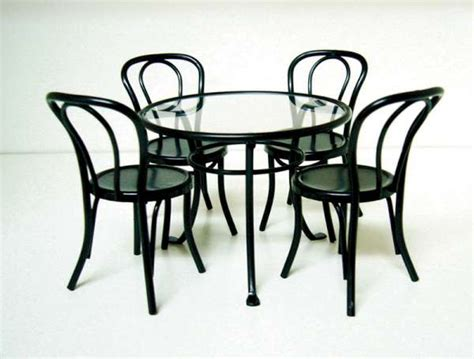 glass patio table and 4 chairs 12th scale patio furniture set glass top table and 4