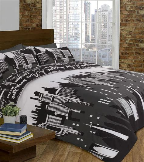 new york skyline duvet set quilt cover pillow cases