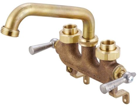 kitchen pull faucets 2 handle laundry faucet in brass industrial