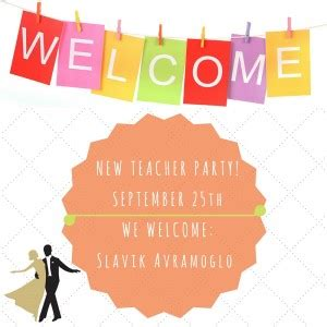 New Teacher Welcome Party! Bardonia