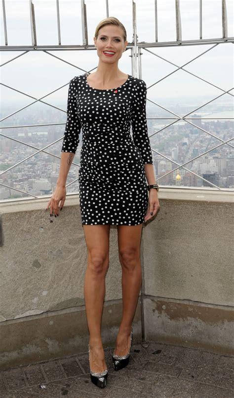 Heidi Klum Showed Pure Sex Appeal In A Slinky Long Sleeved