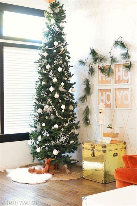 skinny christmas tree ideas  pinterest