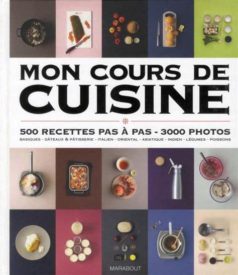 mon cours de cuisine marabout livre mon cours de cuisine collectif
