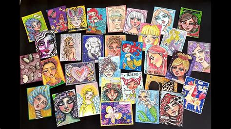 atcad artist trading card  day challenge  june