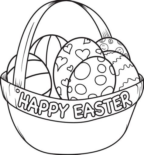 easter egg basket coloring page coloring egg coloring