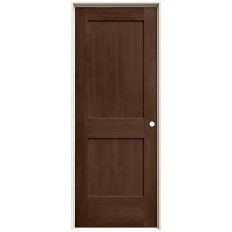 jeld wen interior doors jeld wen 24 in x 80 in milk chocolate stain left