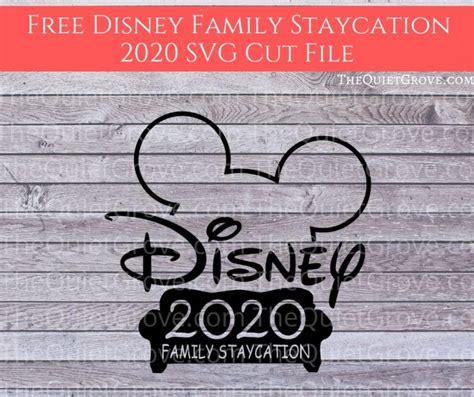 See more ideas about svg, disney vacations, disney. Free Disney Family Staycation 2020 SVG Cut File ⋆ The ...