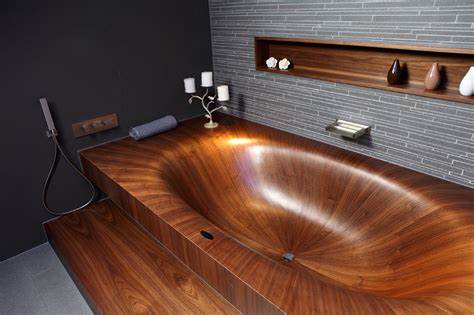 wooden sinks and bathtubs elegant bathtubs made entirely of wood twistedsifter