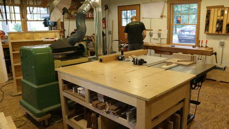 machine layout   midsize shop finewoodworking