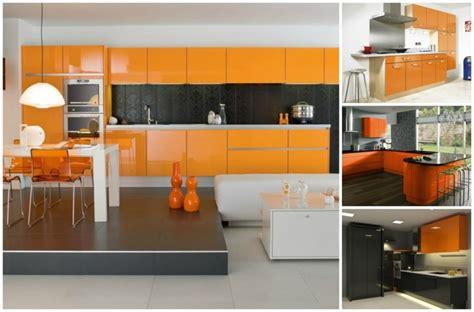 les tapis de chambre a coucher cuisine couleur orange pour un décor moderne et énergisant