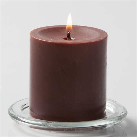 pillar candles brown