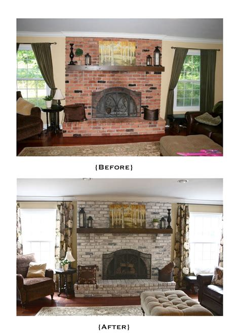 whitewashed brick fireplace the yellow cape cod white washed brick fireplace tutorial