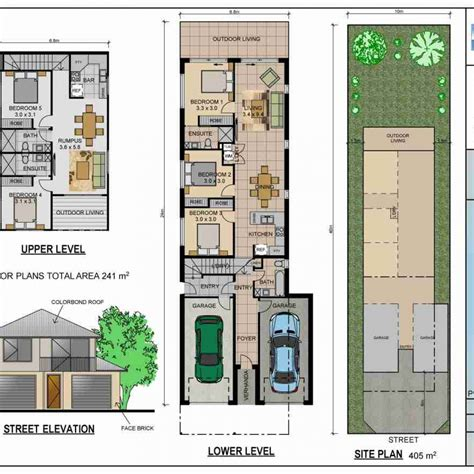 narrow house plans house plans for narrow lots decorspot
