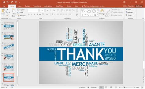 animated design  words powerpoint template