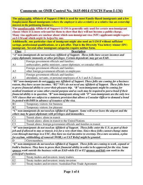 regarding i 134 affidavit of support
