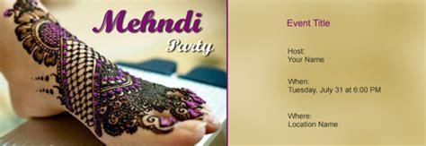 mehndi party invitation  indias   tool