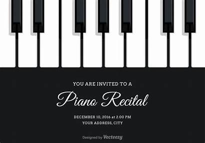 Piano Recital Invitation Vector Clipart Keys Keyboard
