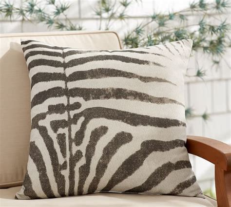 Zebra Print Indoor/Outdoor Pillow   Pottery Barn