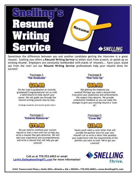 Sle Resume Workshop Flyer by Resume Writing Services Flyer