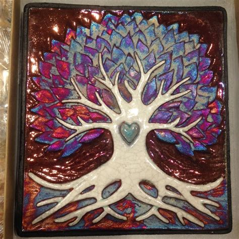 Tree Wall Decor Ebay by Tree Of Wall Raku Pottery New Ebay