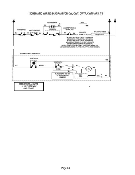 Bunn Wiring Diagram by Page 24 Bunn Cwt Ts User Manual Page 24 24
