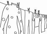 Line Clothes Coloring sketch template