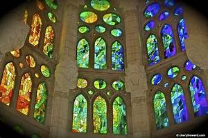 Stained Glass Windows At The Sagrada Familia.