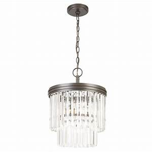 Hampton bay light oil rubbed bronze crystal tier chandelier igw a the home depot