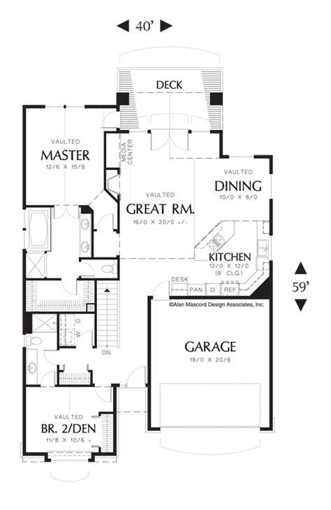 Mascord House Plan 1221A The Kentwood Coastal house