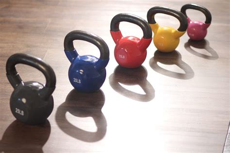 kettlebell kettlebells vinyl deluxe instructional spri guide different colorful