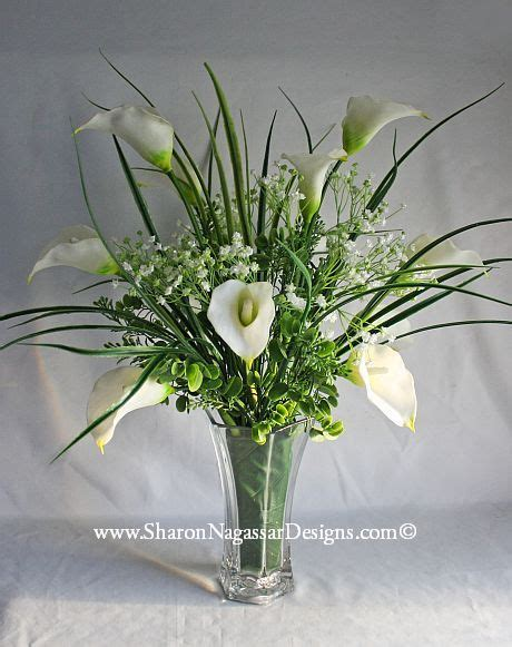 calla lily centerpiece real touch silk flowers wedding