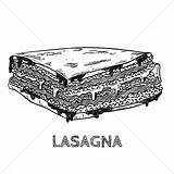 Lasagna Clip Drawing Clipart Stockunlimited Drawings Sketch Sugar Bowl Graphic Sketches Cube Doodle sketch template
