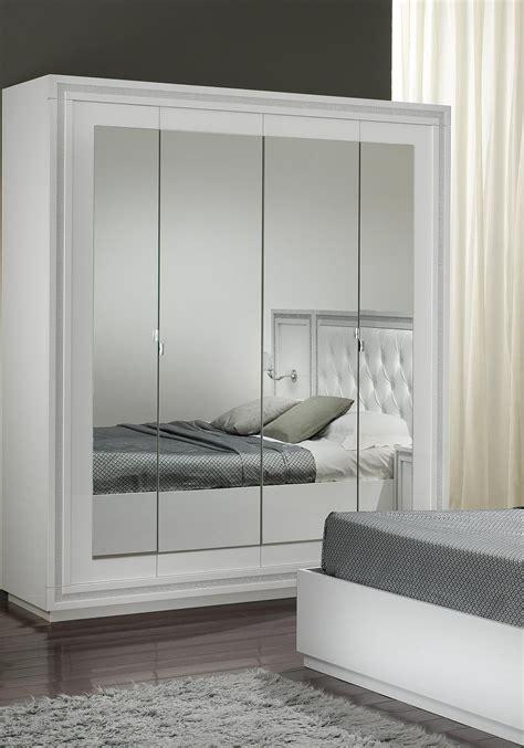 armoire chambre avec miroir chambre a coucher blanc laque