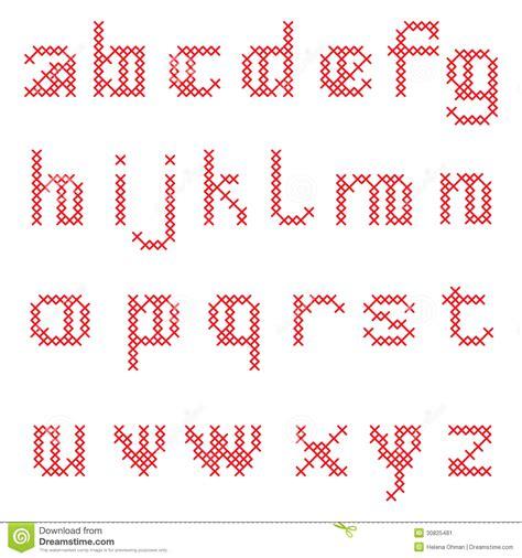 kreuzstich alphabet vektor abbildung illustration von