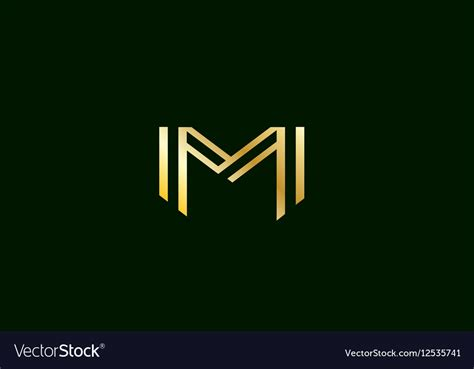 Alphabet Letter M Logo Icon Design Royalty Free Vector Image